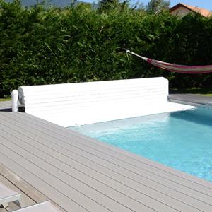 volet piscine wood