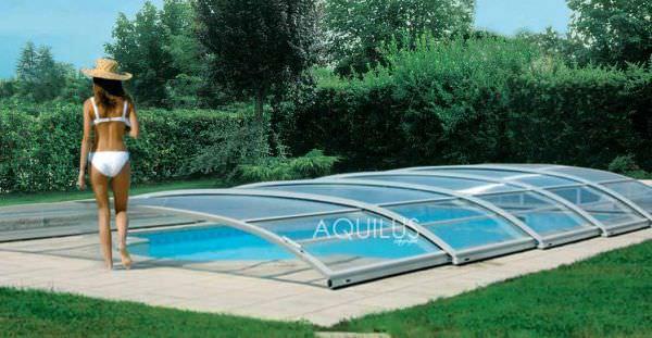 abri piscine bas coulissant
