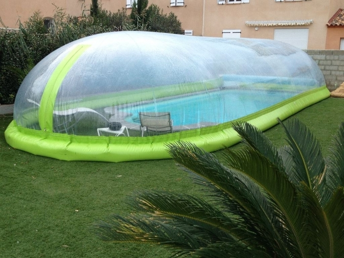 abri piscine bulle gonflable