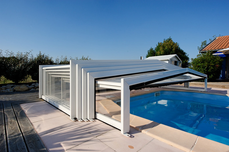 abri piscine coulissant occasion