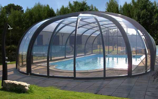 abri piscine dome