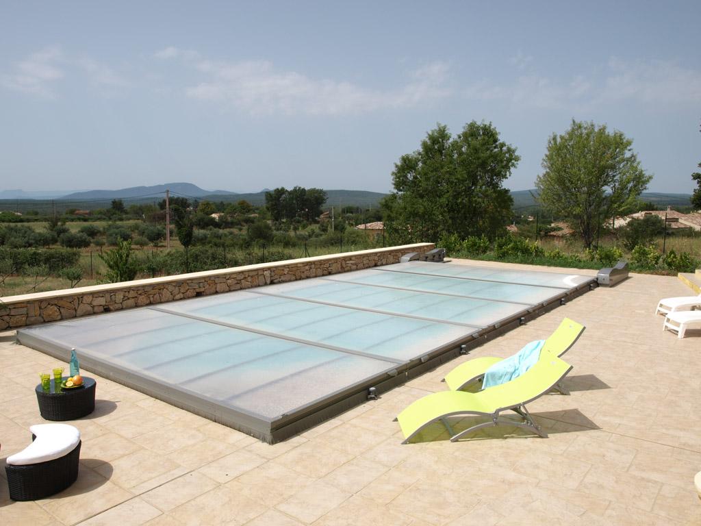 abri piscine extra plat motorise