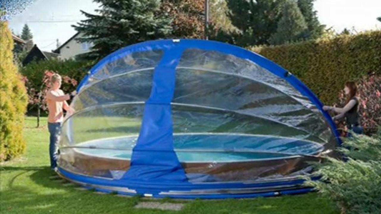 abri piscine hors sol octogonale