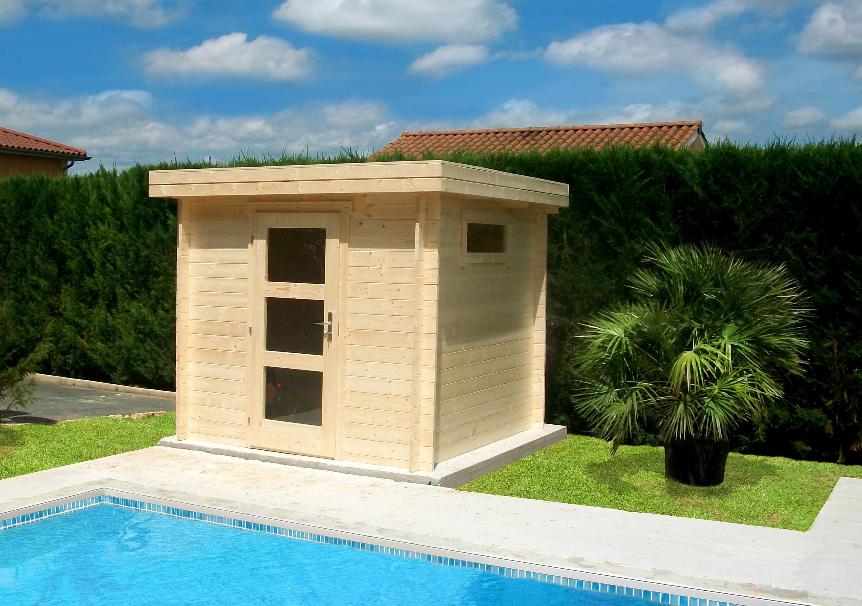 abri piscine local technique