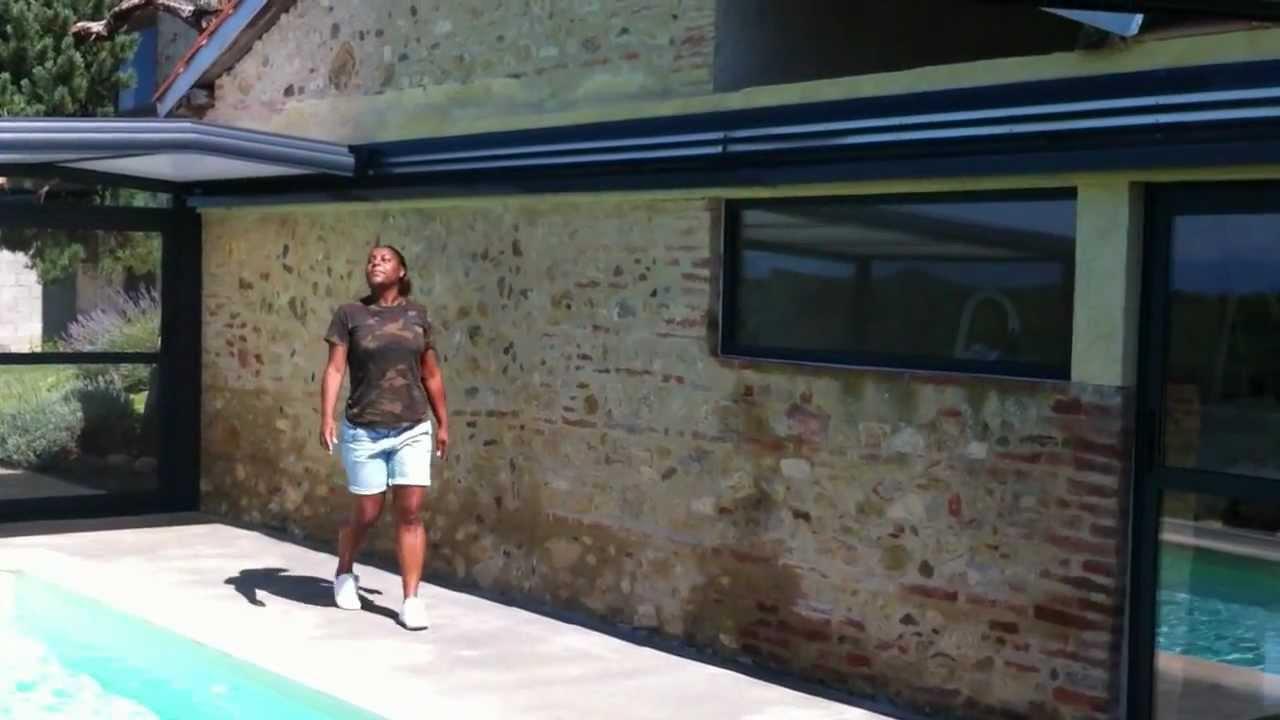 abri piscine mural coulissant