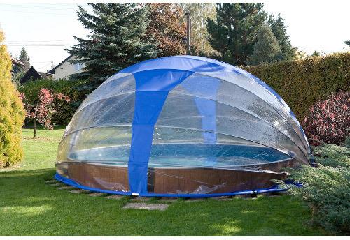 abri piscine octogonale bois
