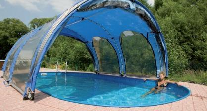 abri piscine ovale