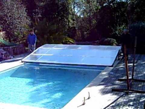 abri piscine plat telescopique