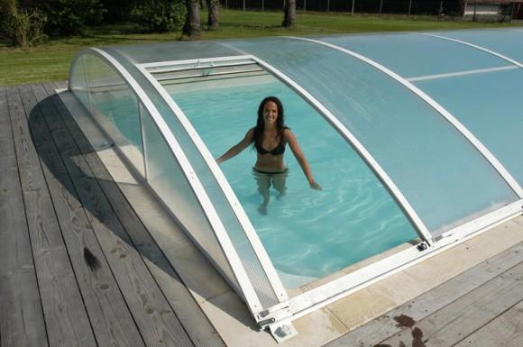 abri piscine polycarbonate