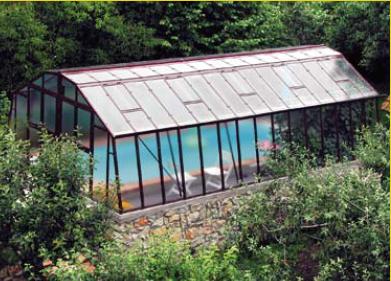 abri piscine serre