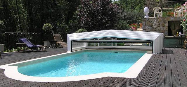abri piscine telescopique motorise