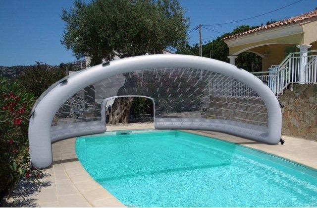 abri piscine toile