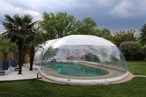 abri piscine transparent