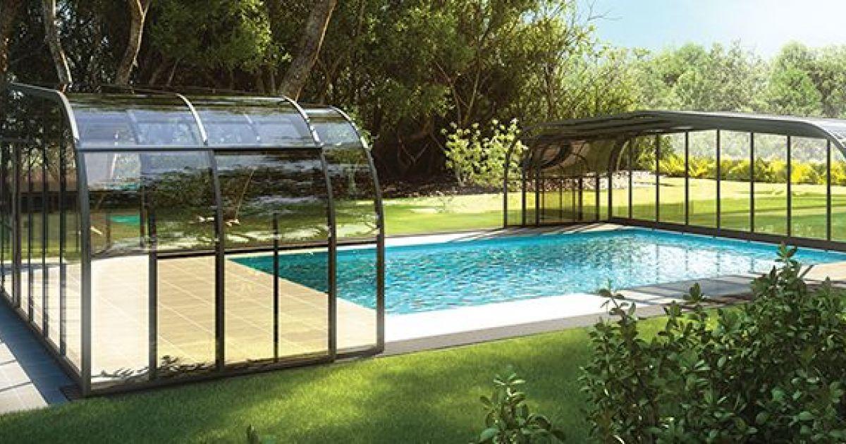 abri piscine veranda rideau