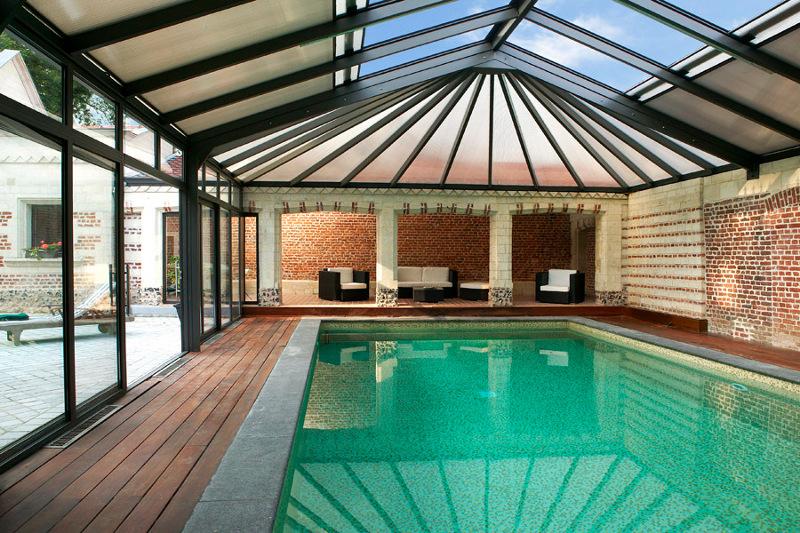 abri piscine verre feuillete