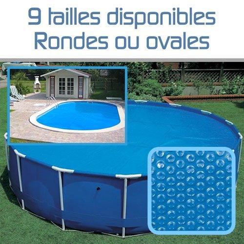 bache piscine a bulle ovale