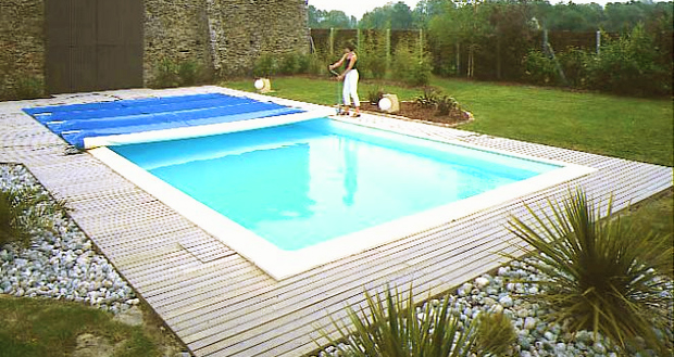 bache piscine barre alu
