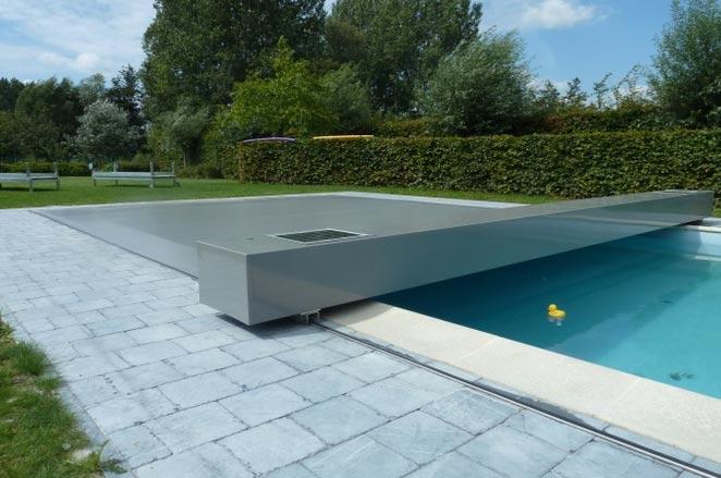 bache piscine electrique