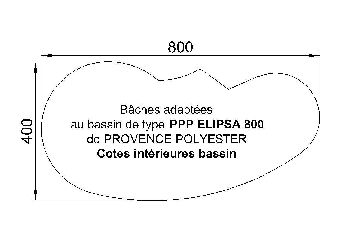 bache piscine elipsa 800