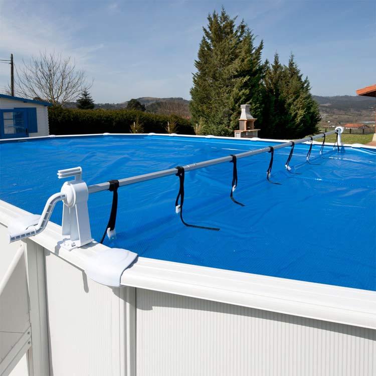 bache piscine hiver avec enrouleur