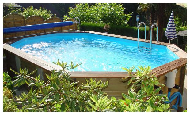 bache piscine hors sol octogonale allongee