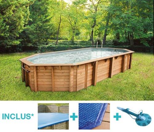 bache piscine hors sol octogonale