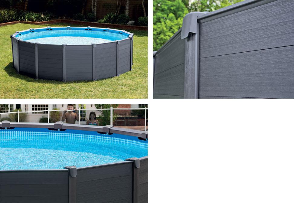bache piscine intex graphite