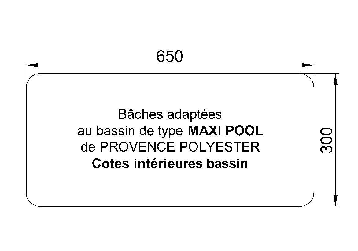 bache piscine provence polyester