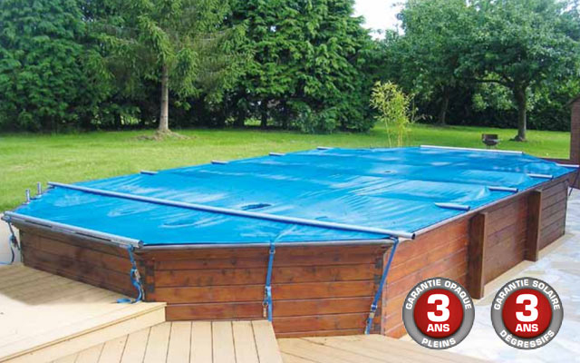 bache piscine semi enterree