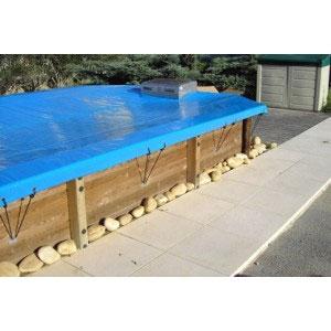 bache piscine sol