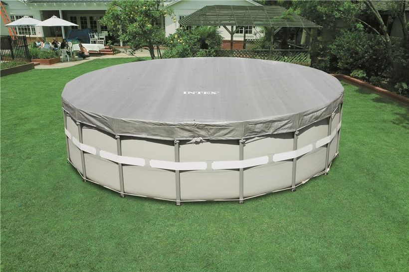 bache piscine tubulaire intex 5.49