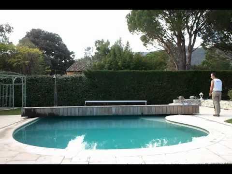 volet piscine haricot