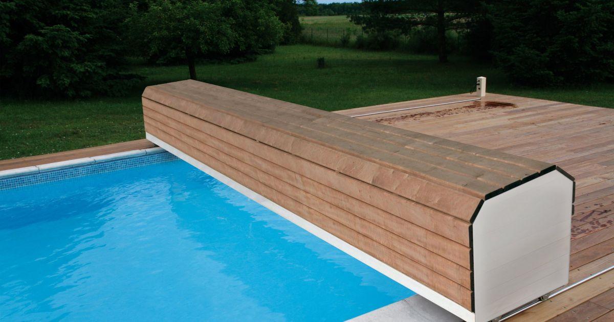 volet piscine rail