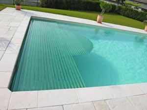 volet piscine transparent